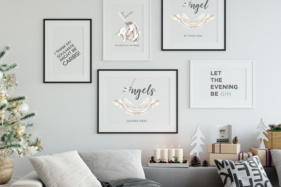 Framed Typography Prints